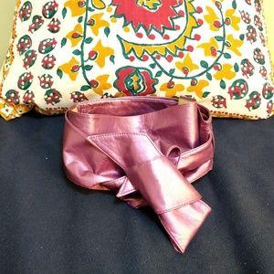 Accessories - Purple sheen, wide self-tie sash belt
